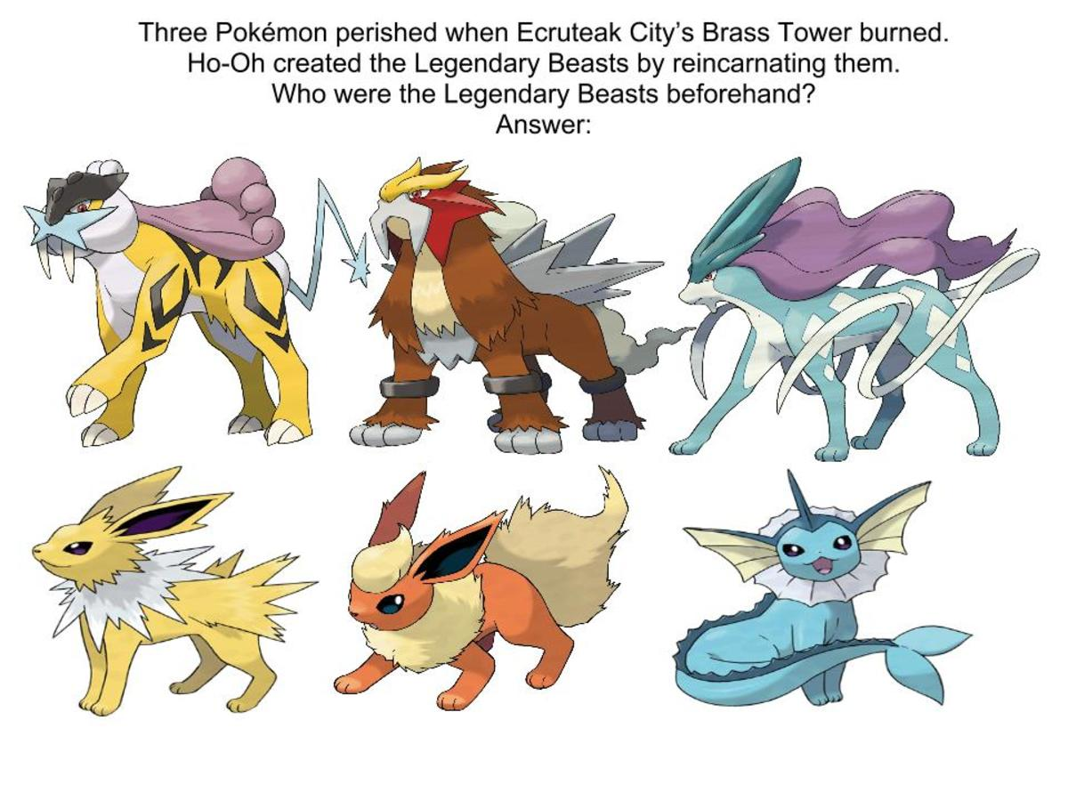 A connection between the Legendary Beasts and Eeveelutions?