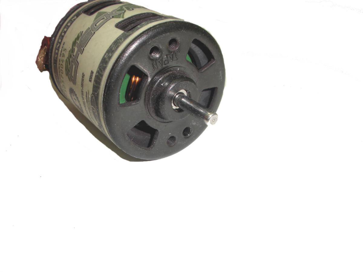Brushed motor--shaft end