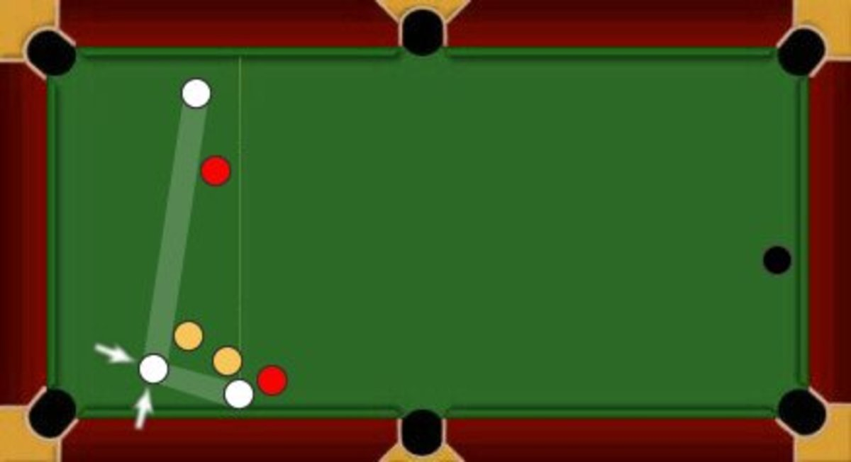 This shows the player on reds is snookered as they cannot directly hit any of their balls.