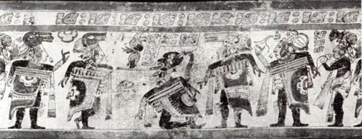 Ball game scene on a Maya vase