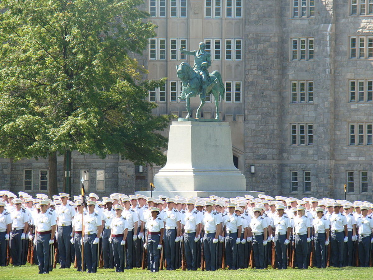 Cadets and Statue of George Washington at West Point