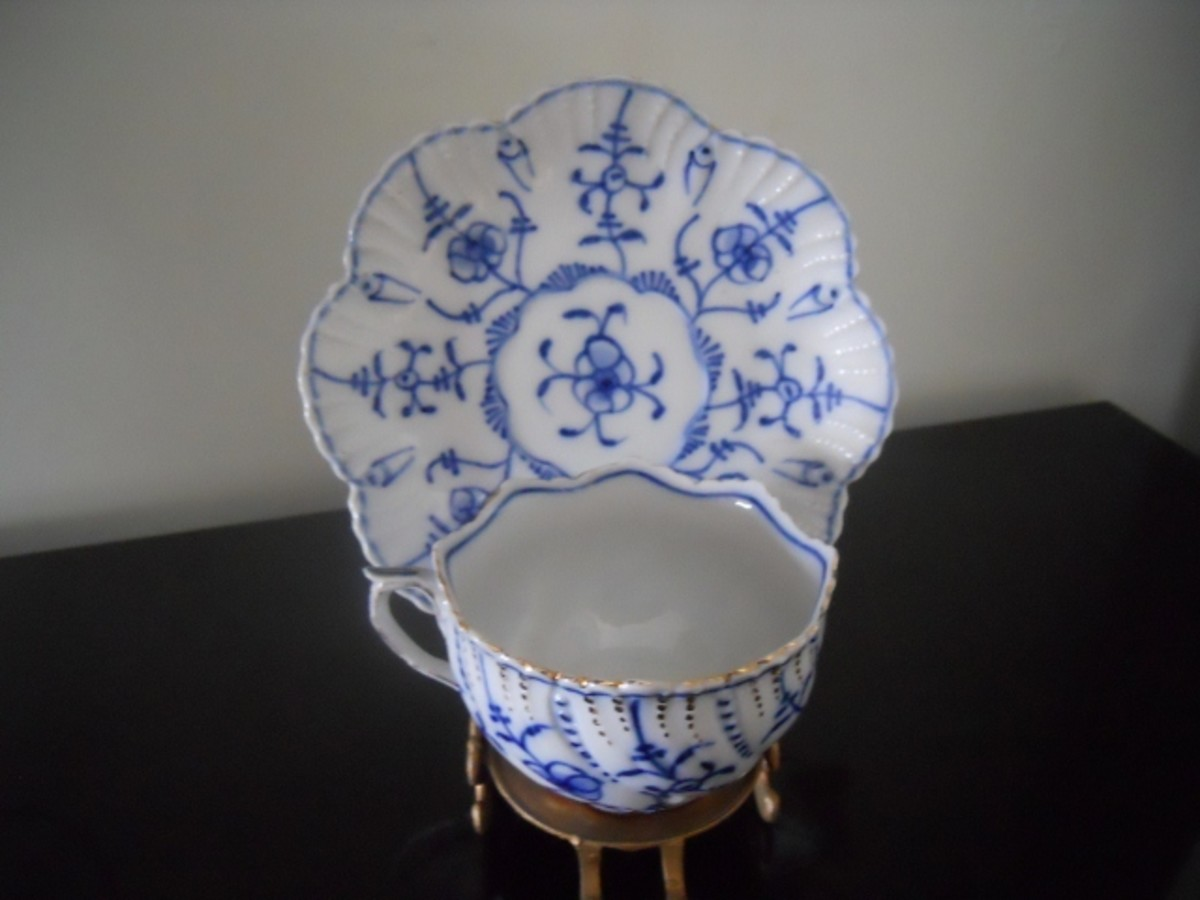 Sontag & Maisel floral patterned cup and saucer