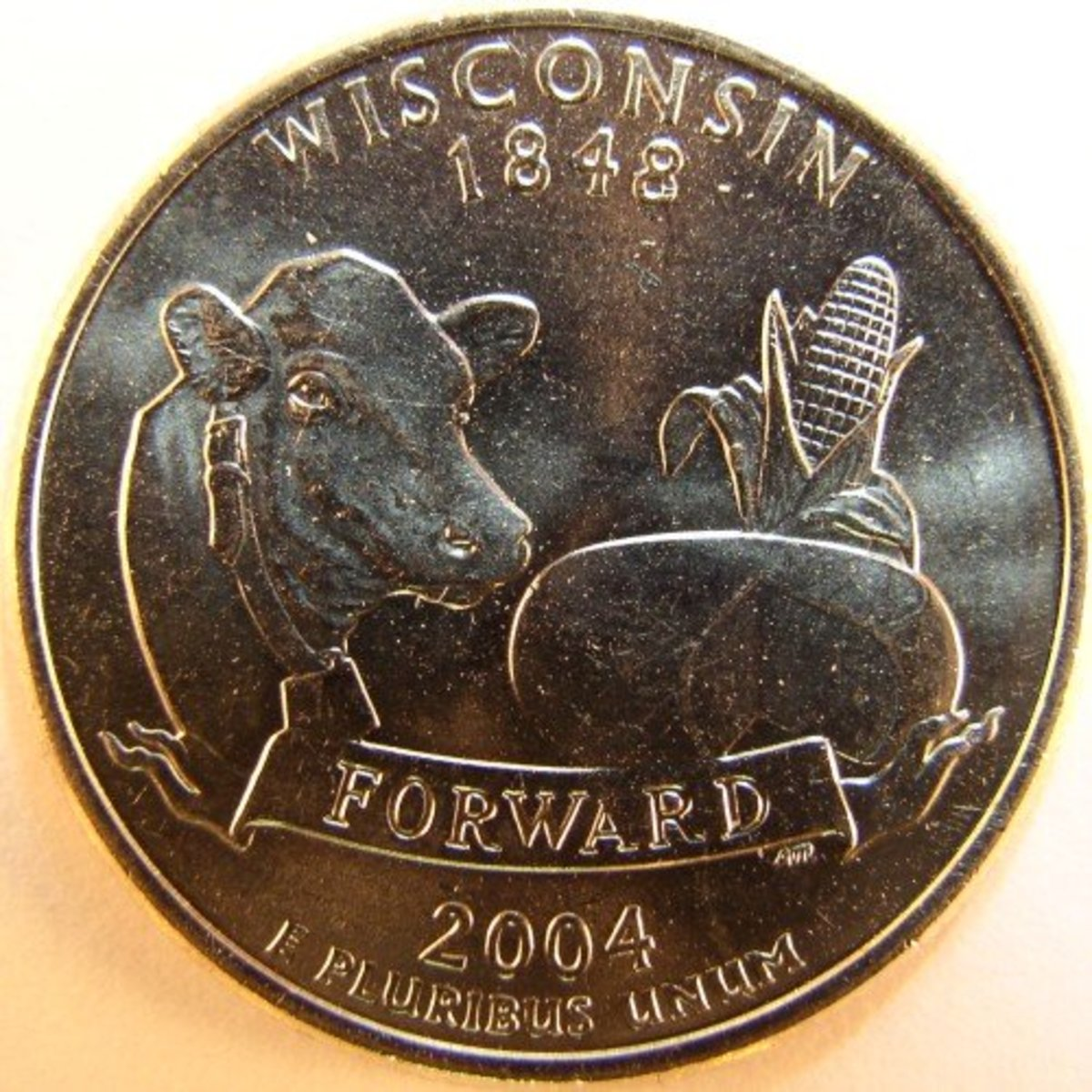 A normal Wisconsin coin.