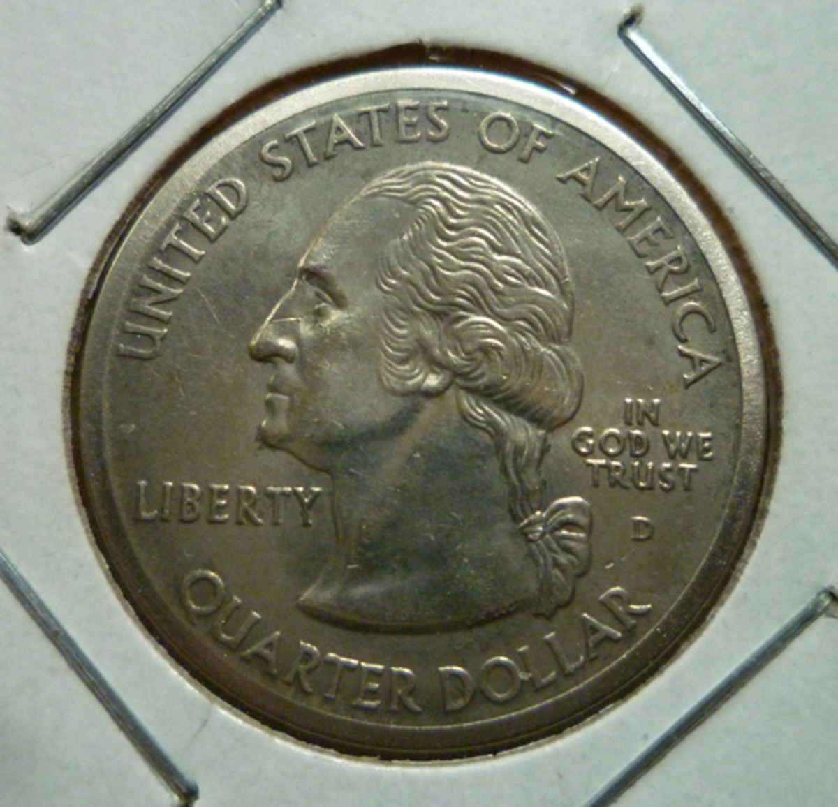 Arizona State Quarter Broad Strike Error. Obverse