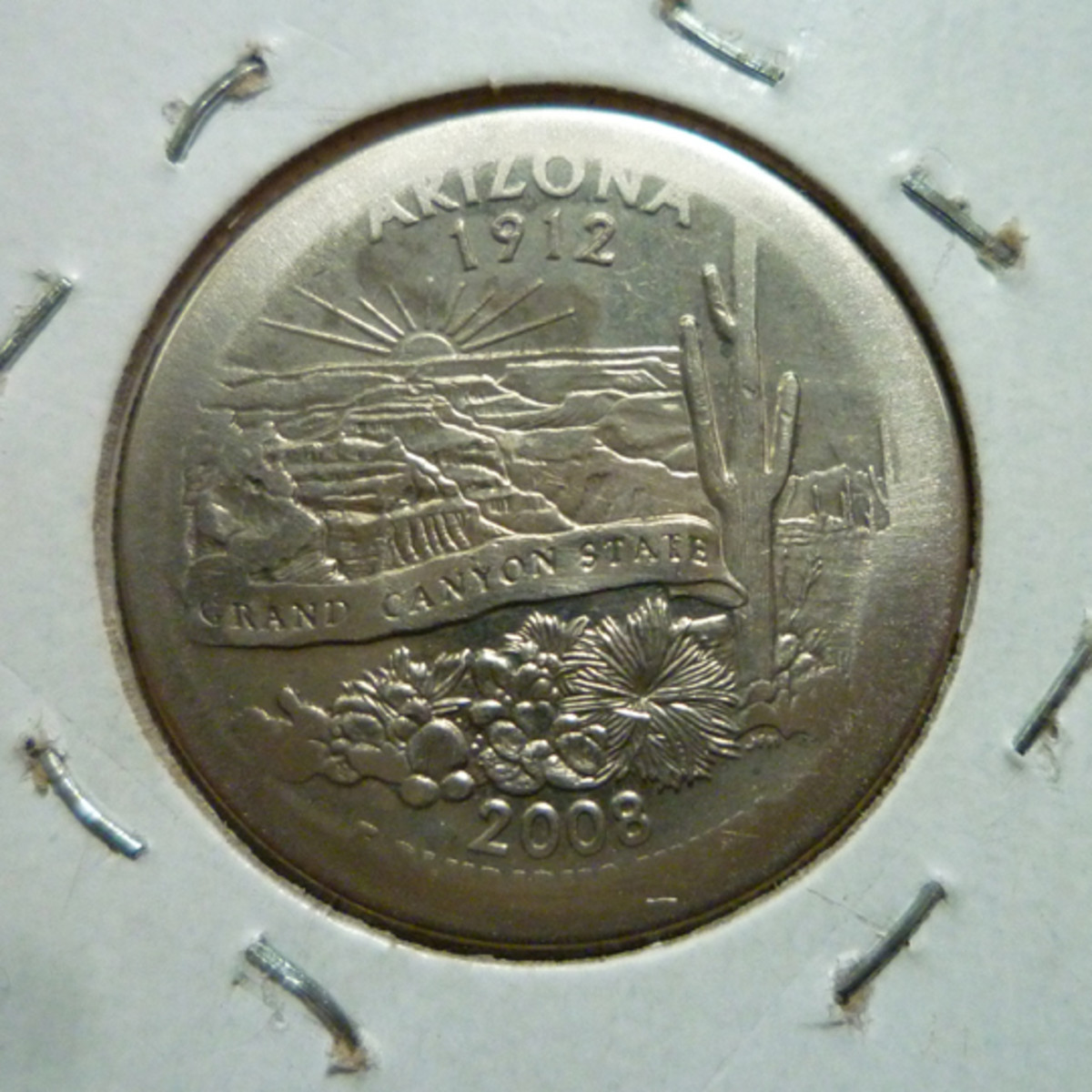 Arizona State Quarter Broad Strike Error. Reverse. I found this coin in circulation.