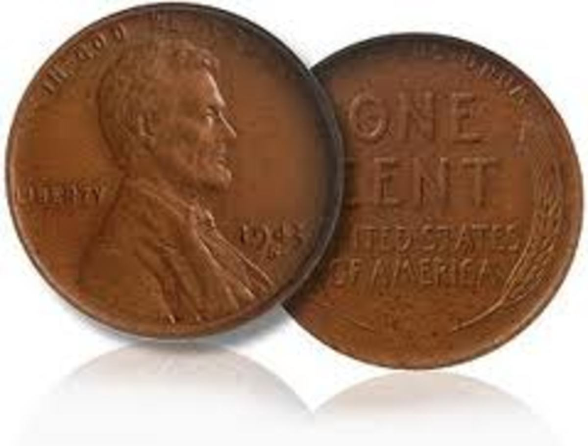 The 1943 copper penny is very valuable. All coins in 1943 were made out of steel because of World War II. A few copper pennies were accidentally produced and a rare coin was born.