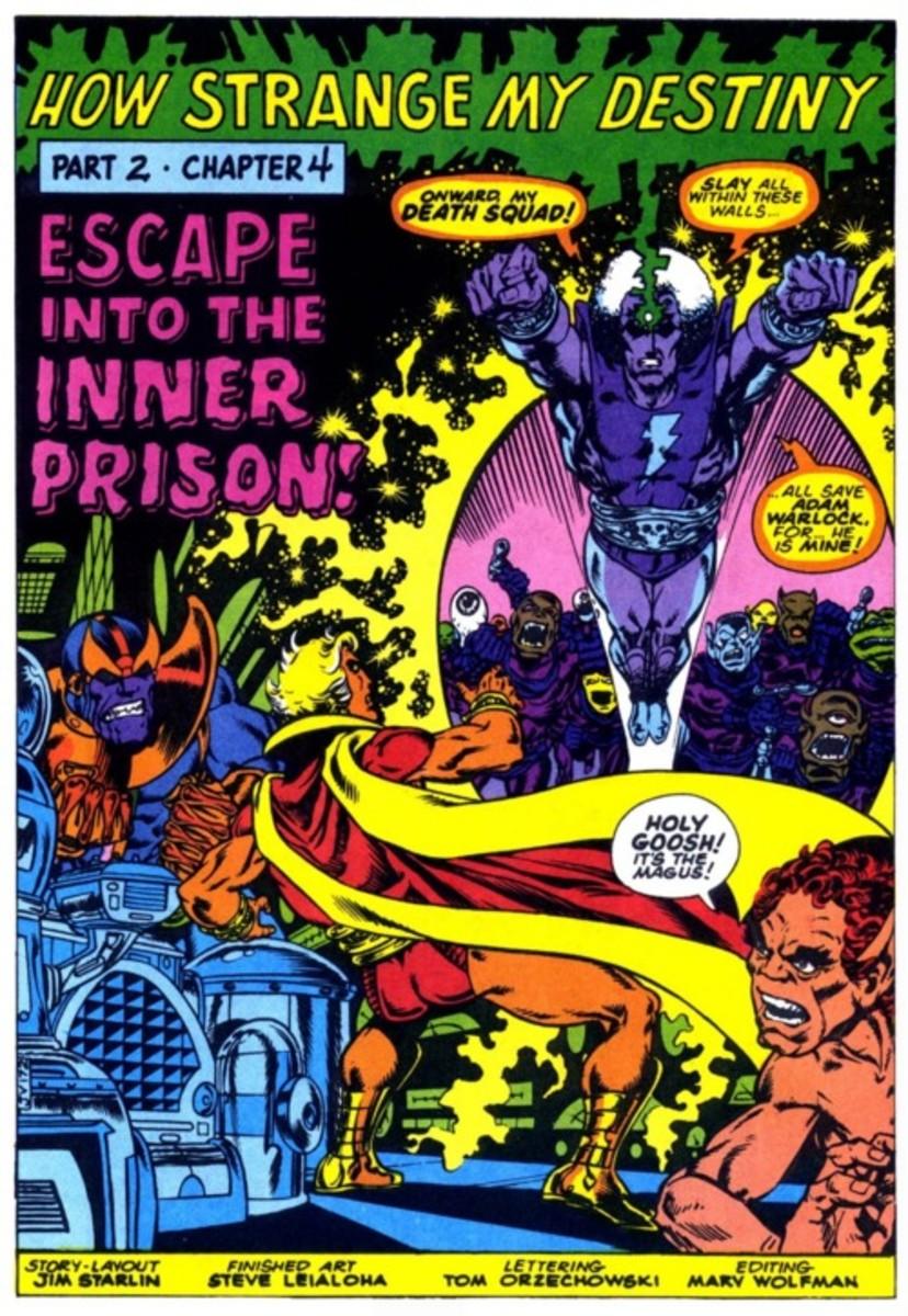 Thanos and Adam Warlock (versus the Magus)