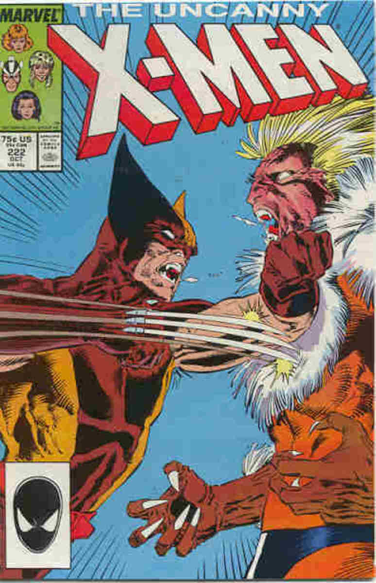 Wolverine about to show Sabretooth some real claw wounds!