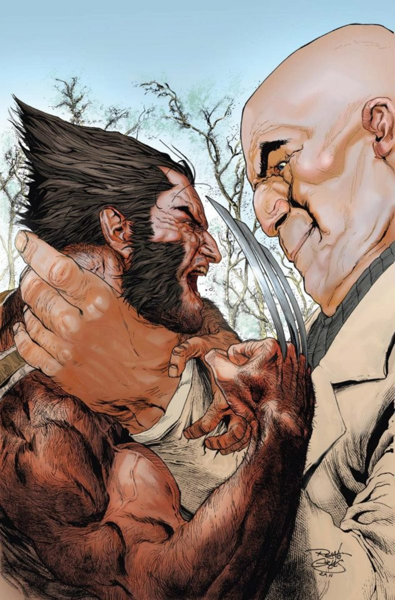 Kingpin better be able to choke Wolverine out fast if he plans to stay alive!
