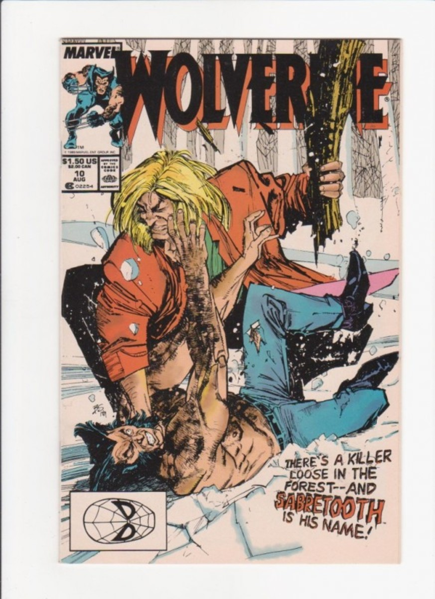 Wolverine about to get pummeled by Sabretooth!