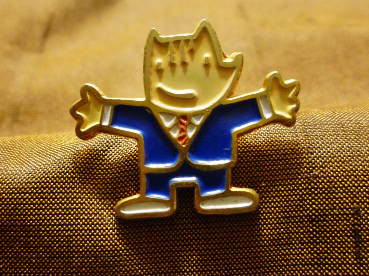 Cobi was one of the mascot pins for the '92 Olympics in Barcelona.