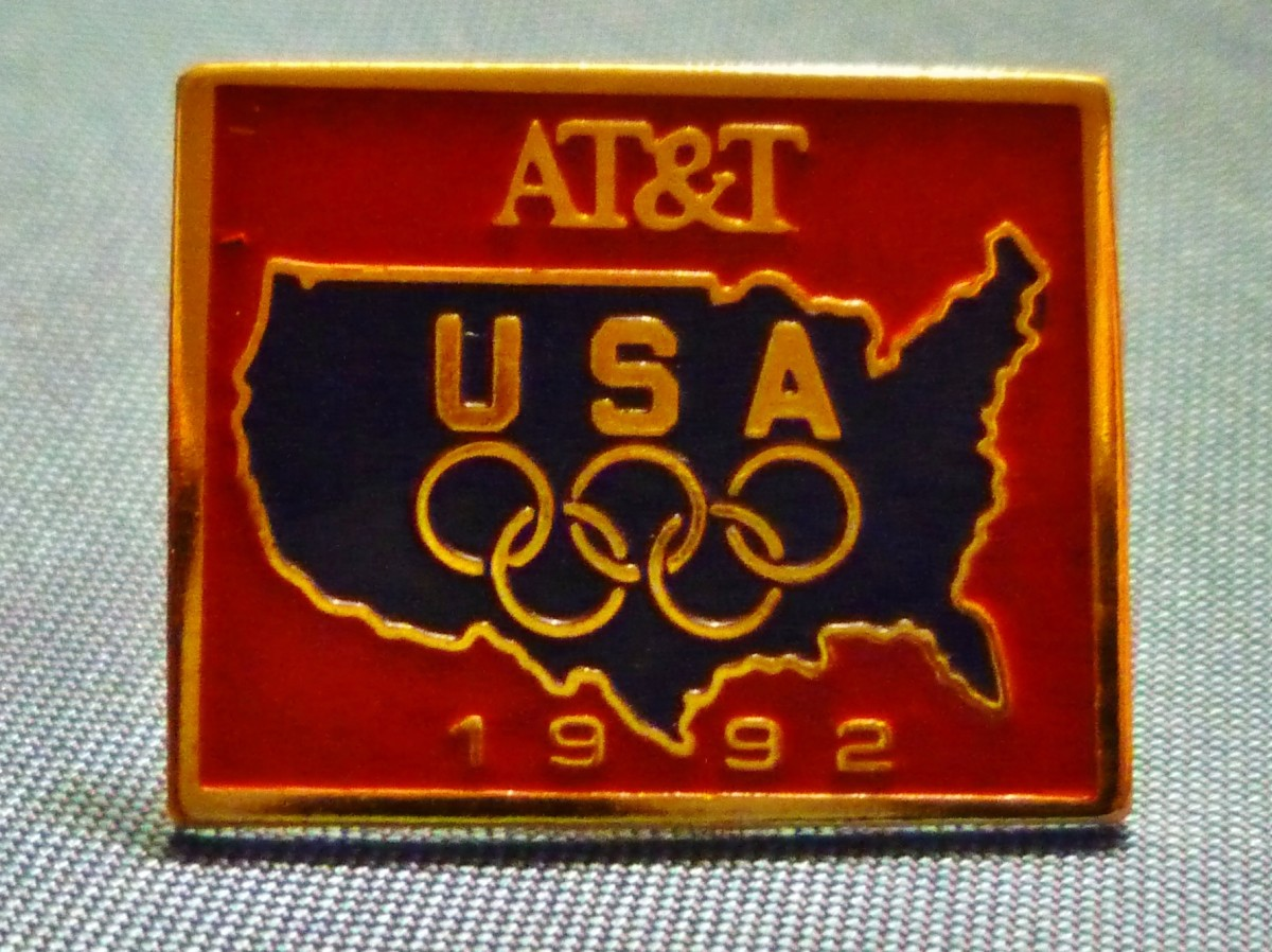 Sponsor Olympic Pin - AT&T, 1992