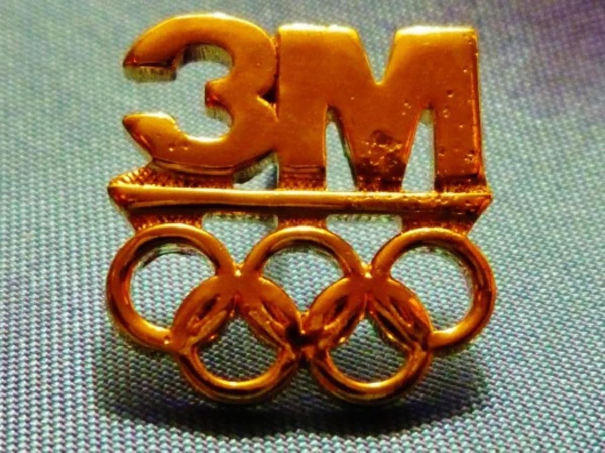 Olympic sponsor pin