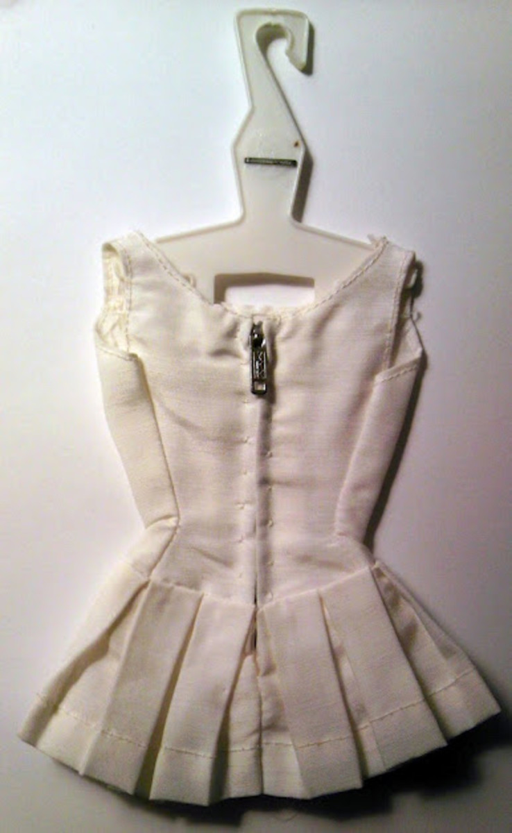 See the tiny zipper, pleats, and darts? That is the type of detail Ruth Handler dreamed of.