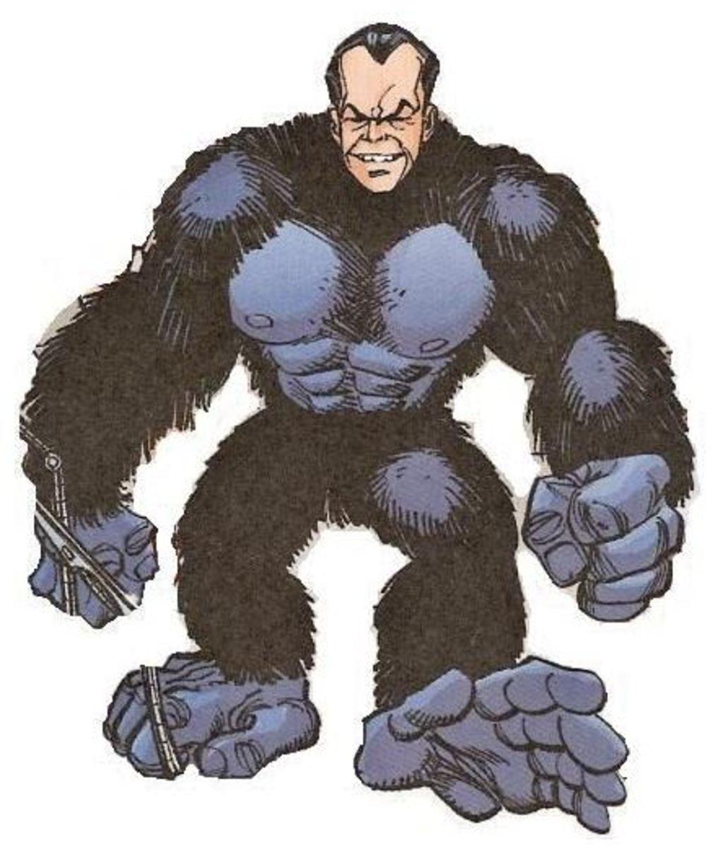 Doctor Arthur Nagan - Head of a man, body of a gorilla - Gorilla Man