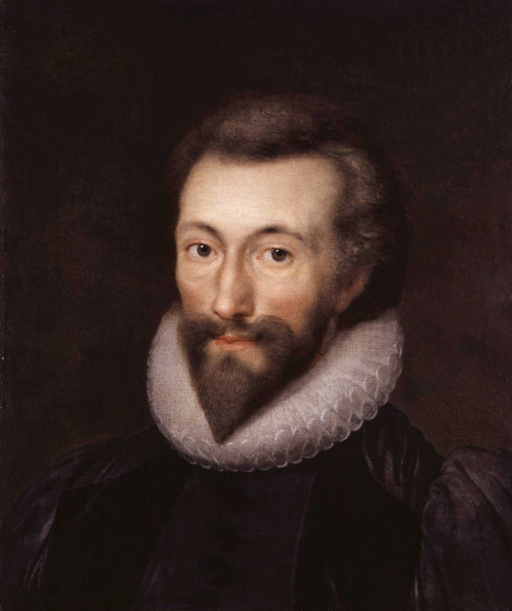 John Donne, by Isaac Oliver (died 1622)