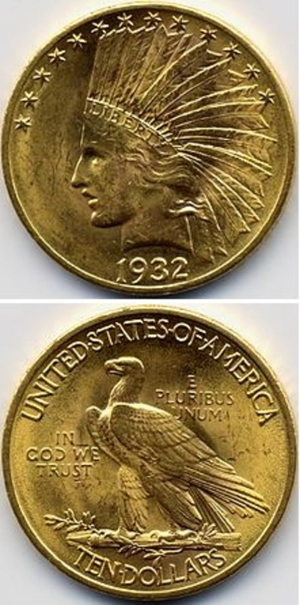 Augustus Saint-Gaudens' design for the Indian Head Eagle.
