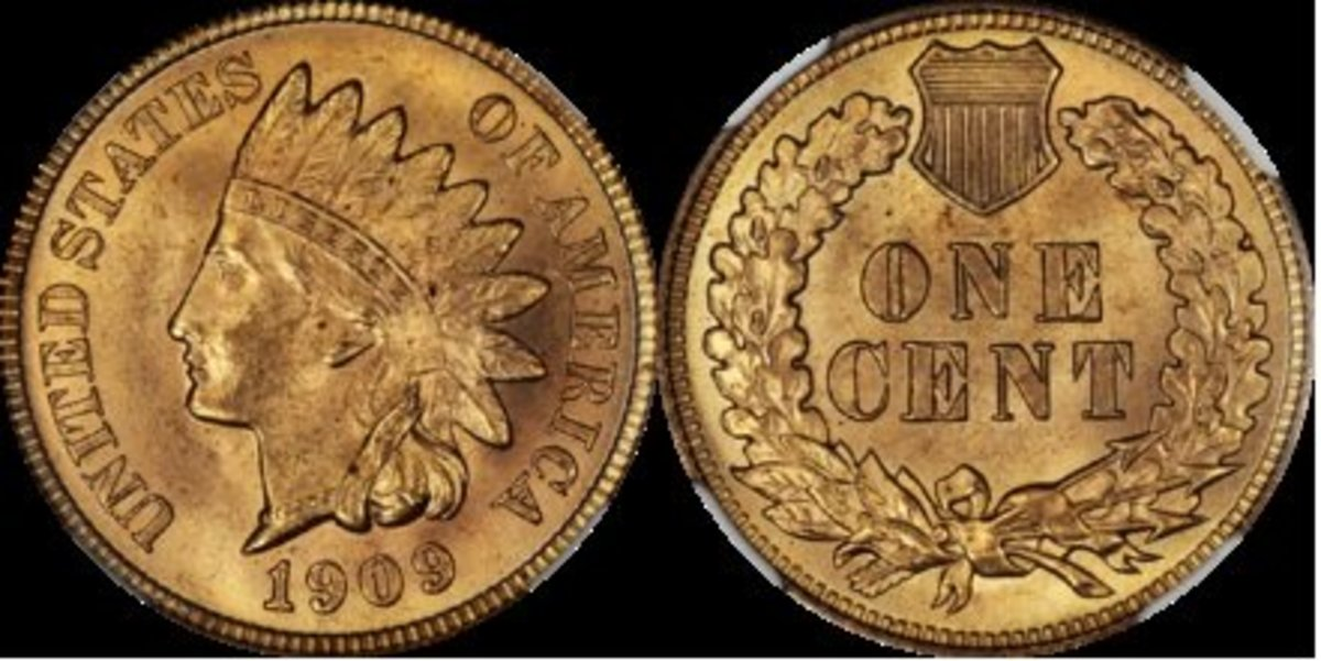 Front and back of Indian Head Cent.