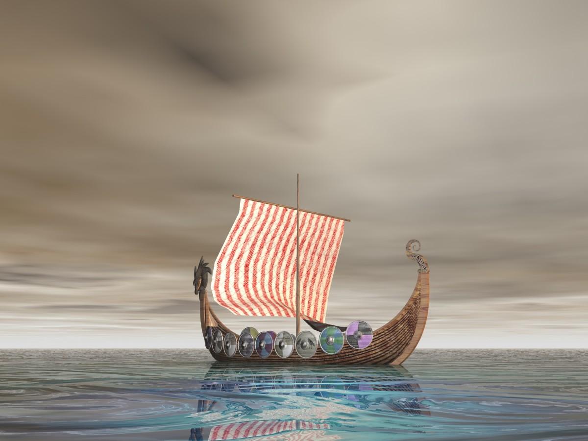 a dragon-prowed ship