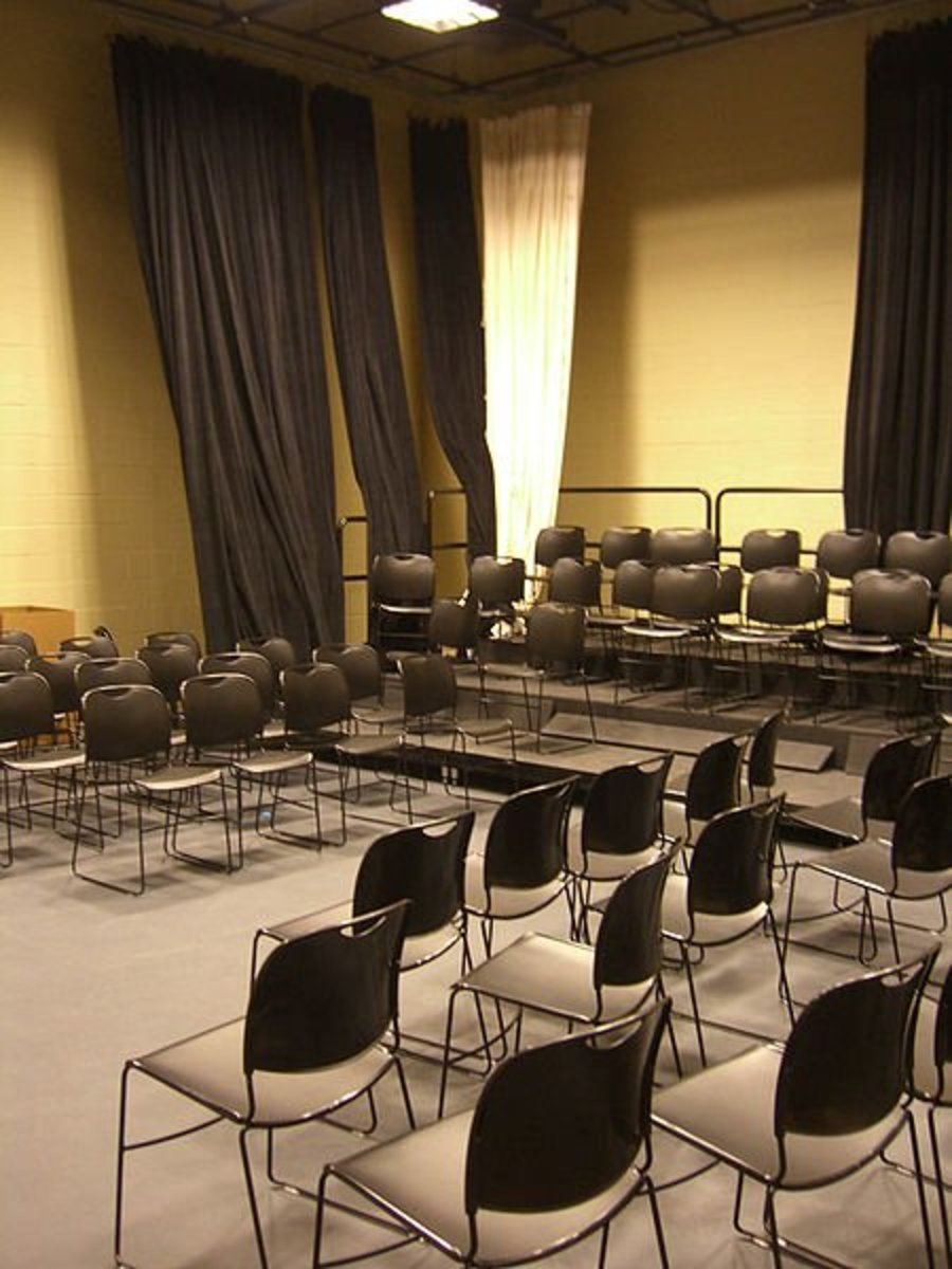 Drama can happen anywhere, from the most smallest of black box theaters to the grandest stages of Broadway.  At some point, your students will want to perform for an audience--where will this performance be?