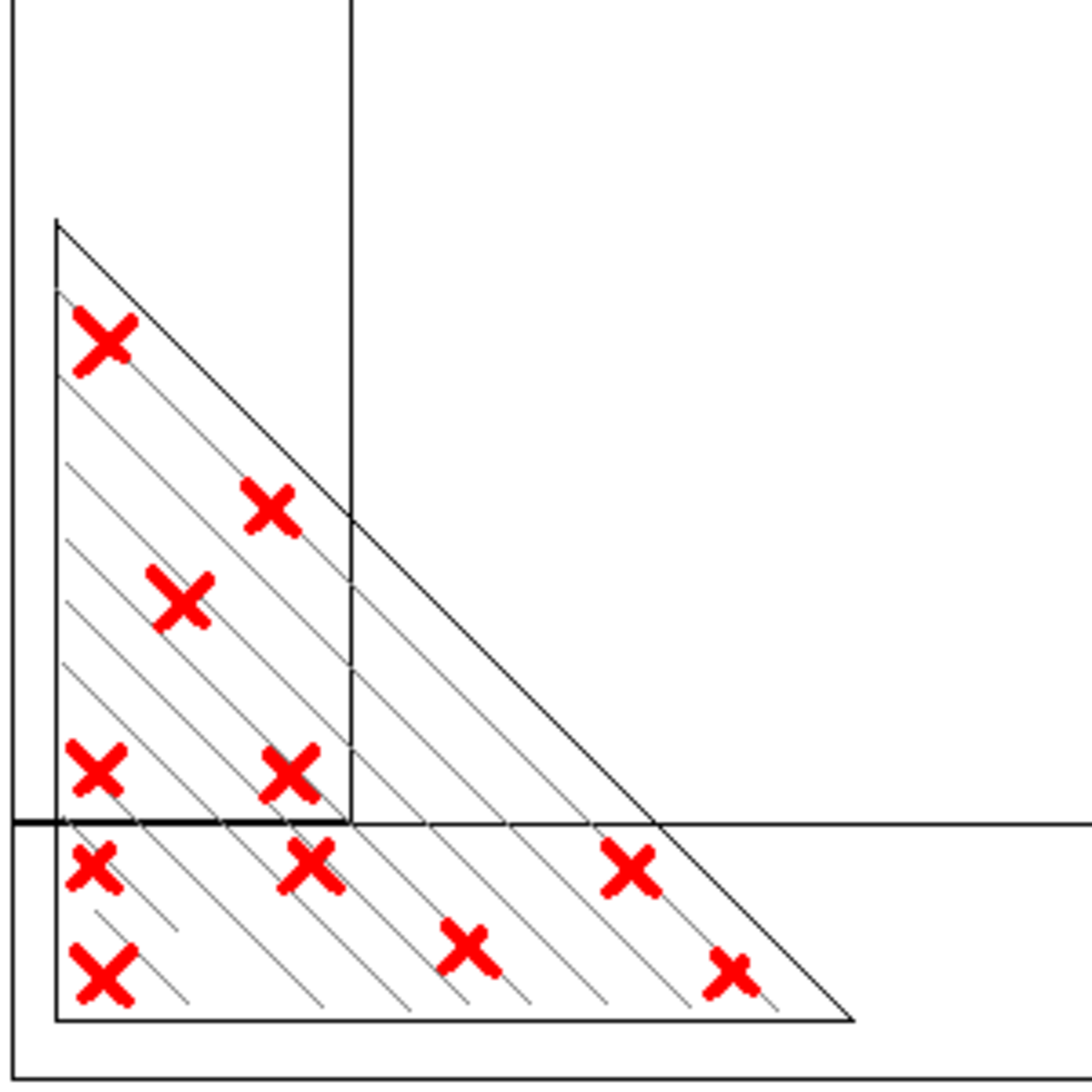 How to attach a cornerblock for flat construction. NOTE: Not to scale.