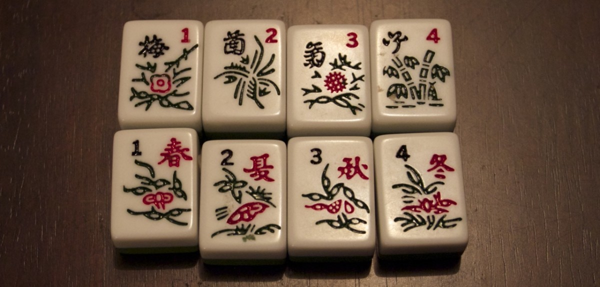 1 point - the special tiles (flowers and seasons).