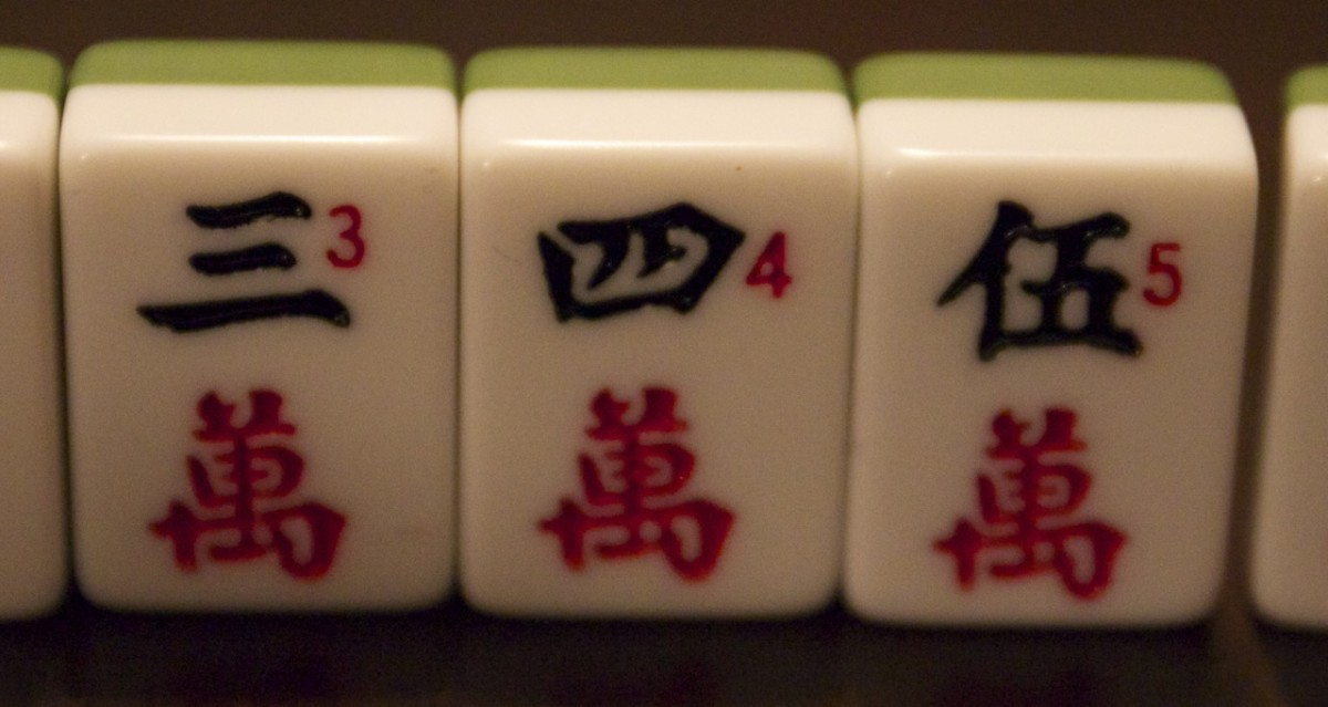 A mahjong chi - three successive numbers.