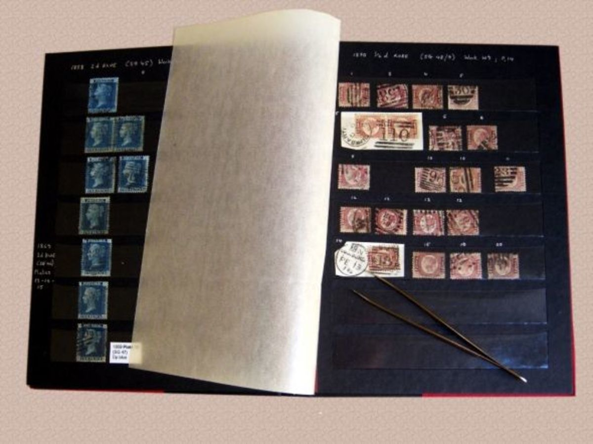 Stockbook with Victorian stamps
