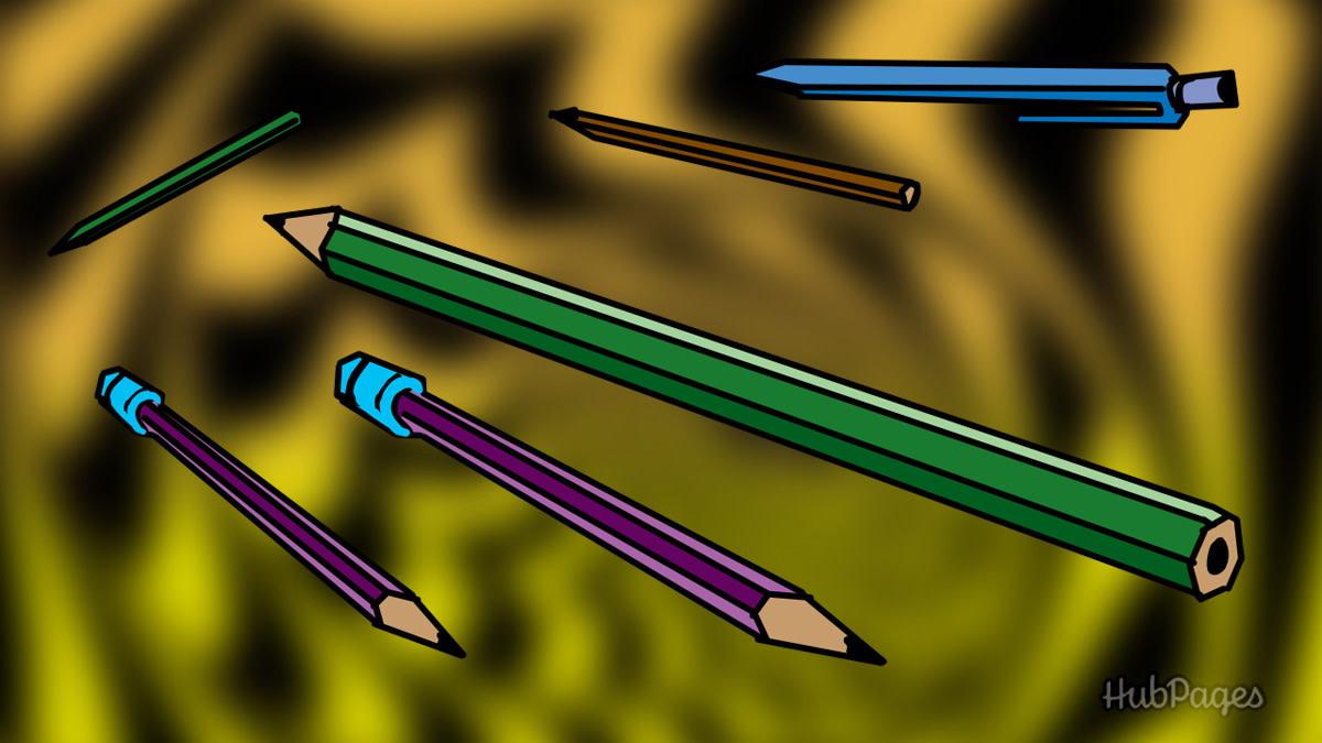 Magic floating pencils.