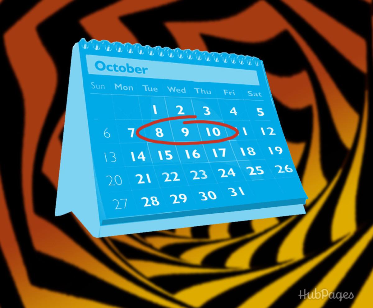Magic trick with a calendar.