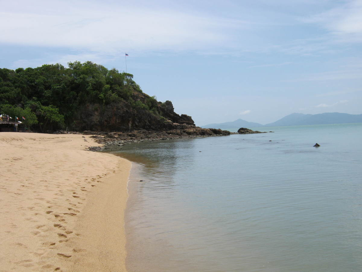 A sandy beach in Koh Samui, Thailand