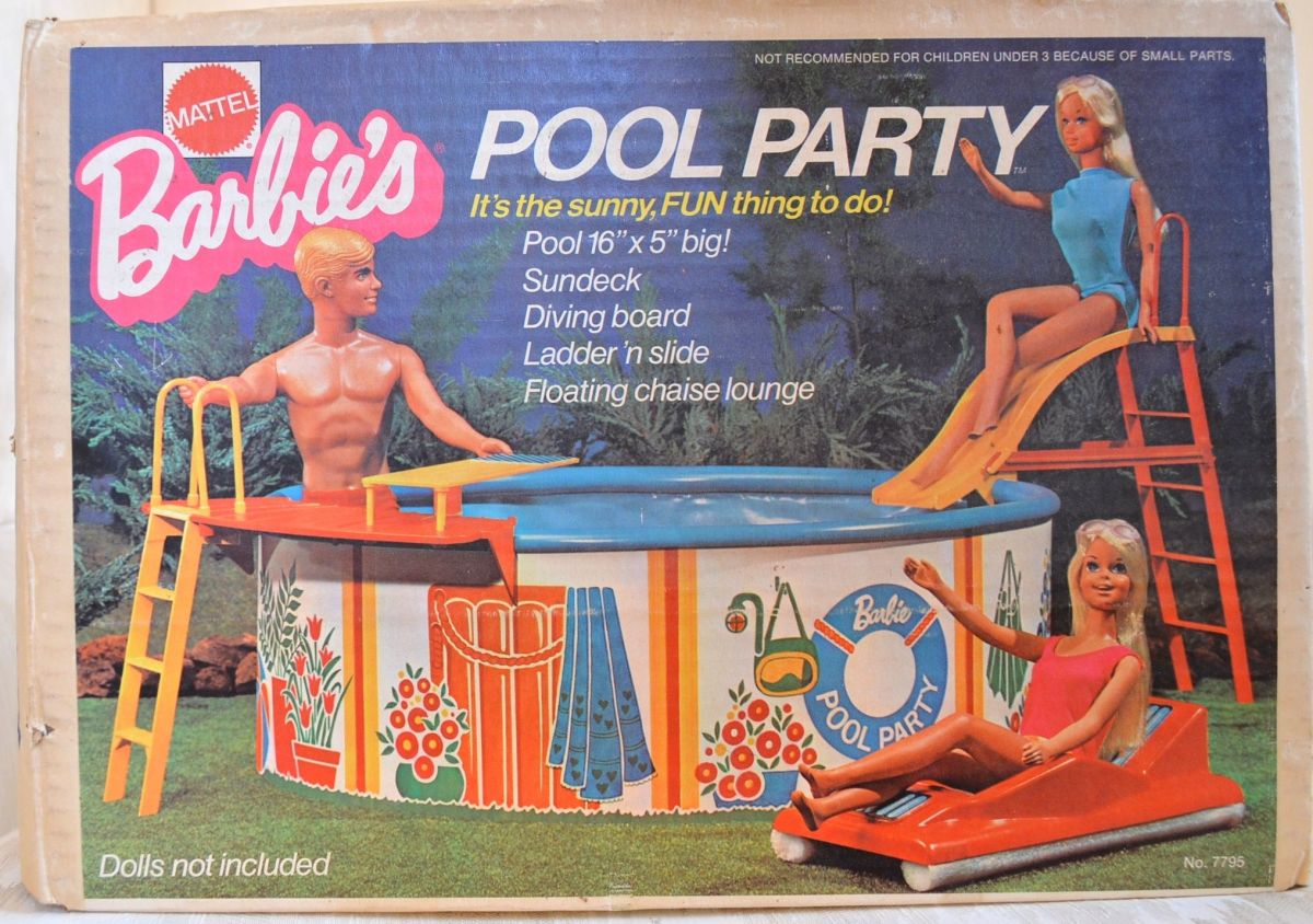 I actually still have the box for Barbie's pool.
