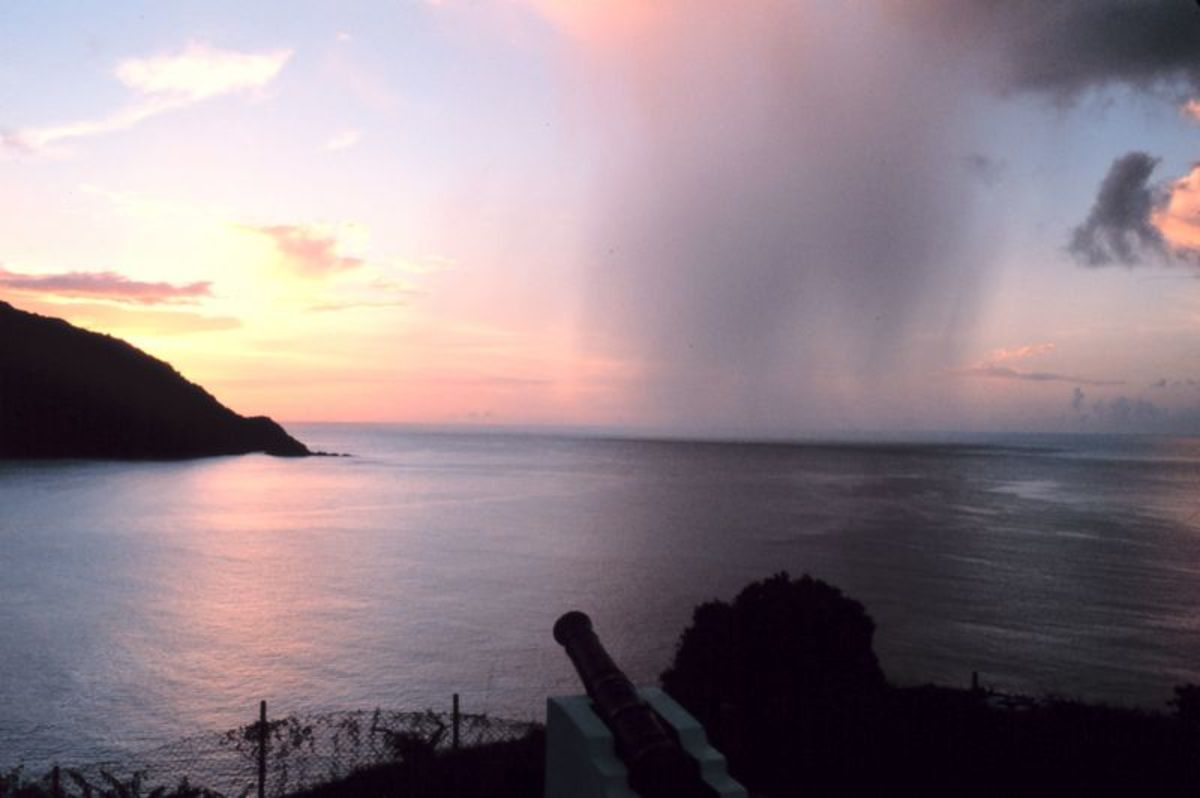 The calm and the storm in one picture: I simply like this picture because you get to see the dual nature of rain.