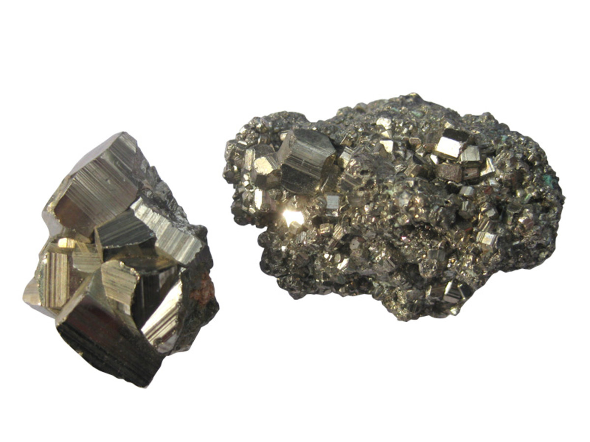 """Iron pyrite, otherwise known as """"fool's gold""""."""