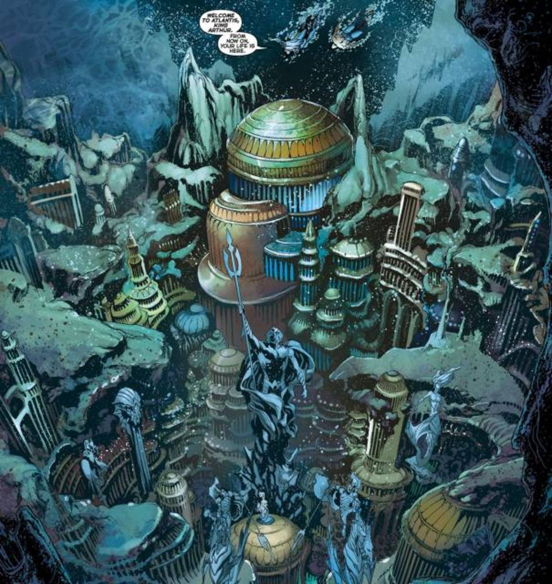 Atlantis as depicted in the Aquaman comics (New 52)