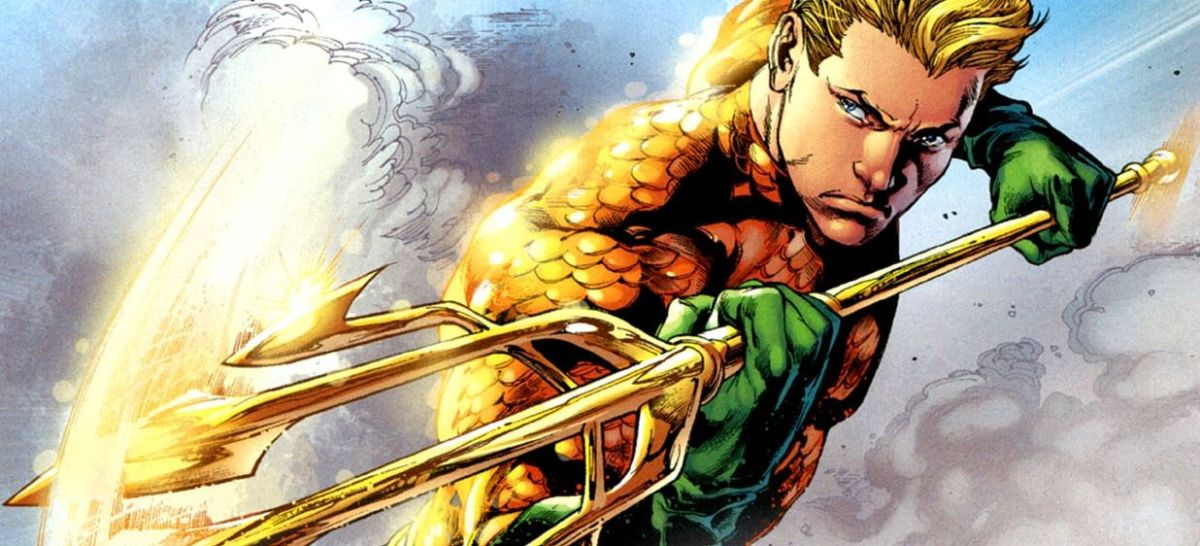 Aquaman wields the Trident of Poseidon