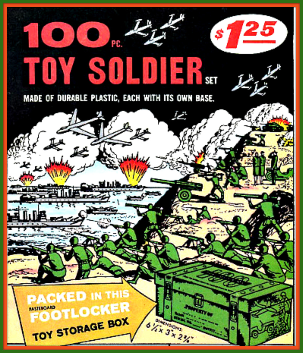 Russ Heath created the two most well-known and now famous Comic Book Toy Soldier Advertisement illustrations and they are probably among the most widely remembered and most reprinted Advertisements for Lucky Products, the 100 pieces Toy Soldier Set a