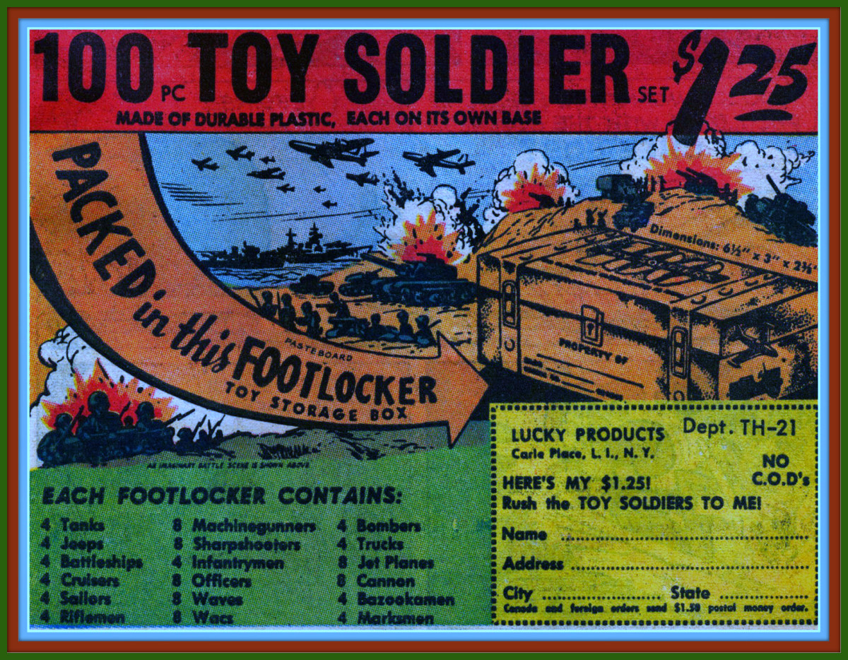 100 Pieces Toy Soldier Set, With A Toy Storage Footlocker