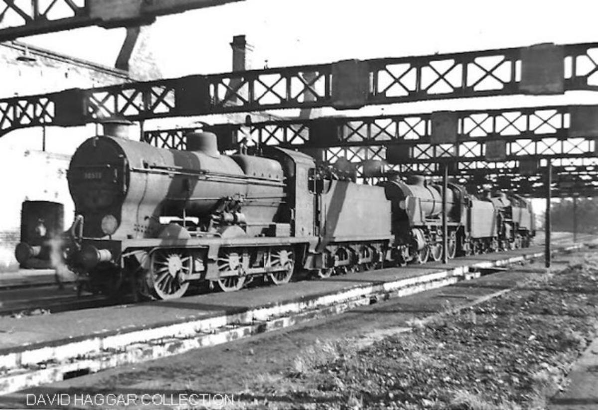 Eastbourne shed with a number of elderly tender classes in view