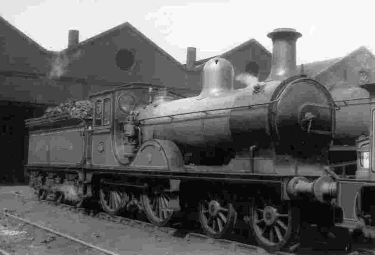 Whilst not actually in Scotland, this is a Highland Railway locomotive 'Gordon Highlander' at Carlisle Kingmoor shed