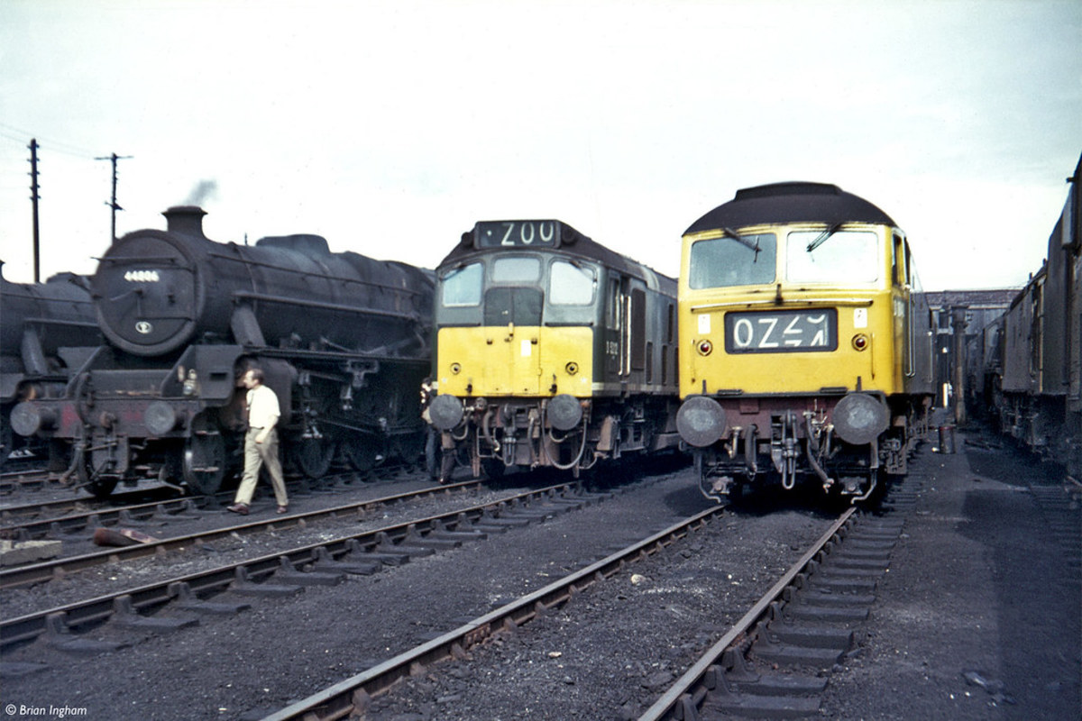 Lostock Hall was the last ex-LMS shed to close its doors to steam in 1968, a year after steam ended in the North Eastern Region across the Pennines