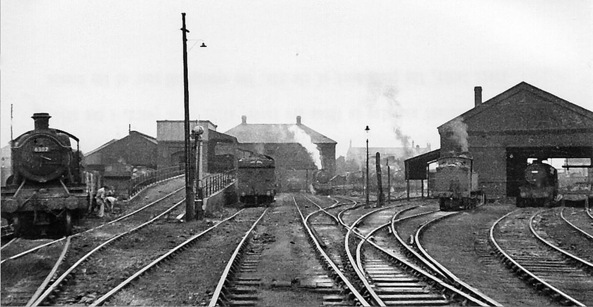 Shrewsbury (Coleham) motive  power depot - bordering on Wales
