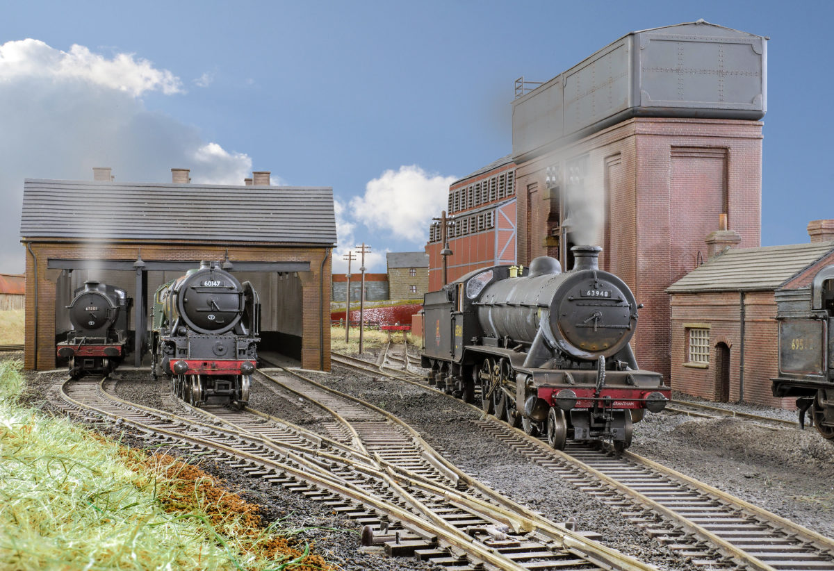 A convincing shed scene on the A&DMRC layout  'Leicester Belgrave Road