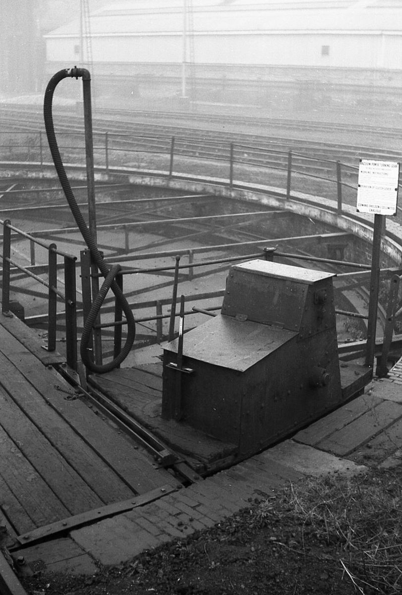 Southern region this time, Cowans Sheldon vacuum operating turntable controls at Stewarts Lane