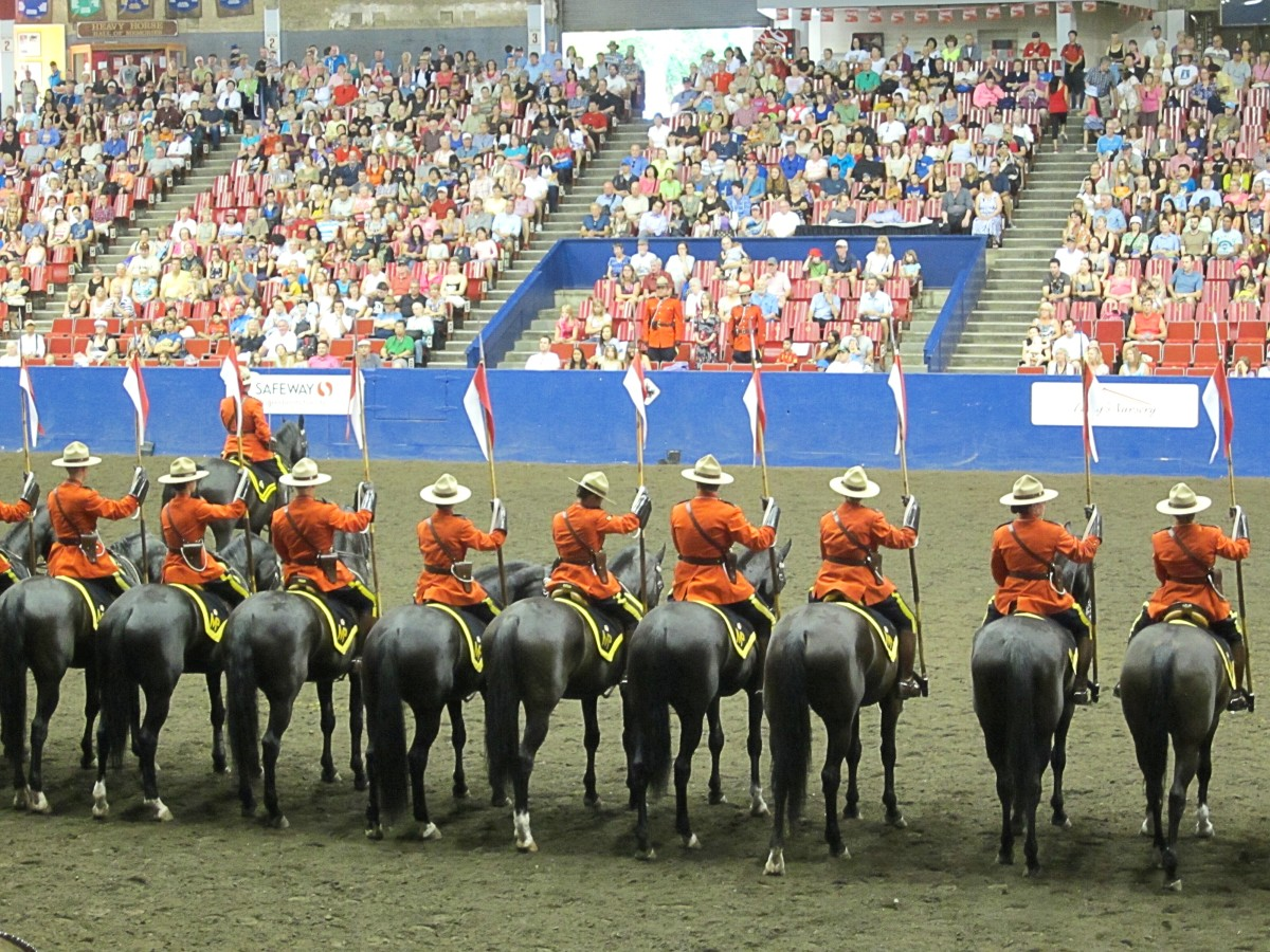Introducing a large cast of characters such as the riders or horses at the RCMP Musical Ride is not a good idea in flash fiction.
