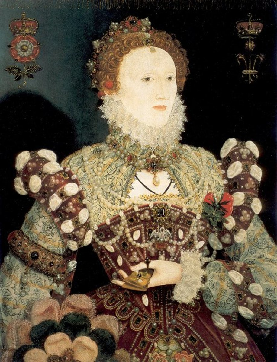 Elizabeth I: The Pelican Portrait, c 1575, attributed to Nicholas Hilliard.