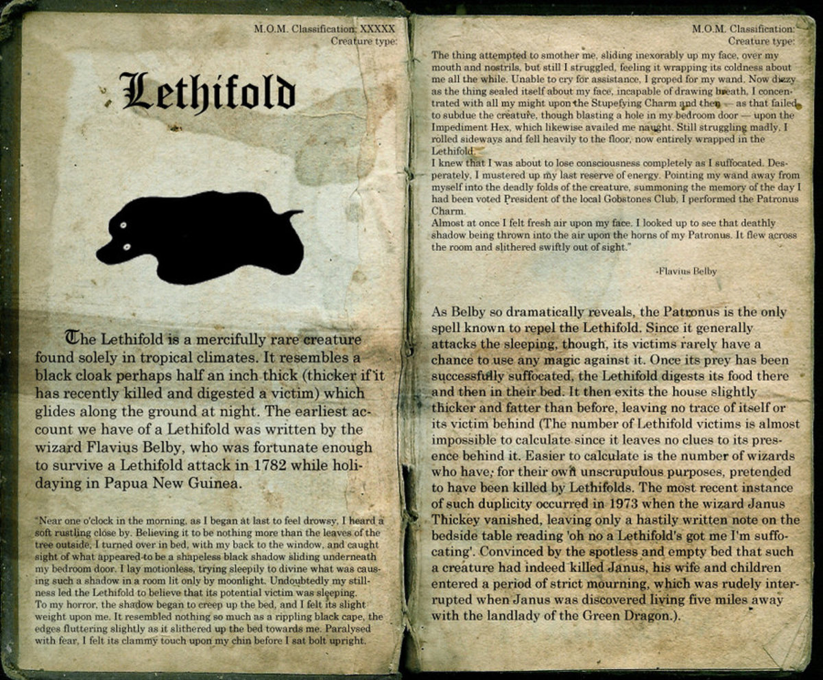 The Lethifold looks harmless. Till it's all over you.