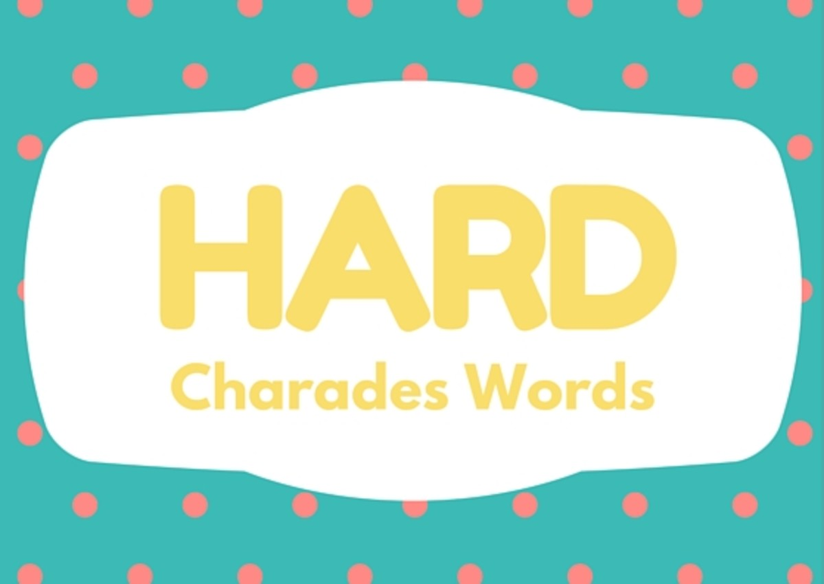 150 fun charades words and 5 variations that spice up the game anticipate a bunch of wild antics and be sure to bring a camera to the game have fun take risks be silly and enjoy publicscrutiny Choice Image
