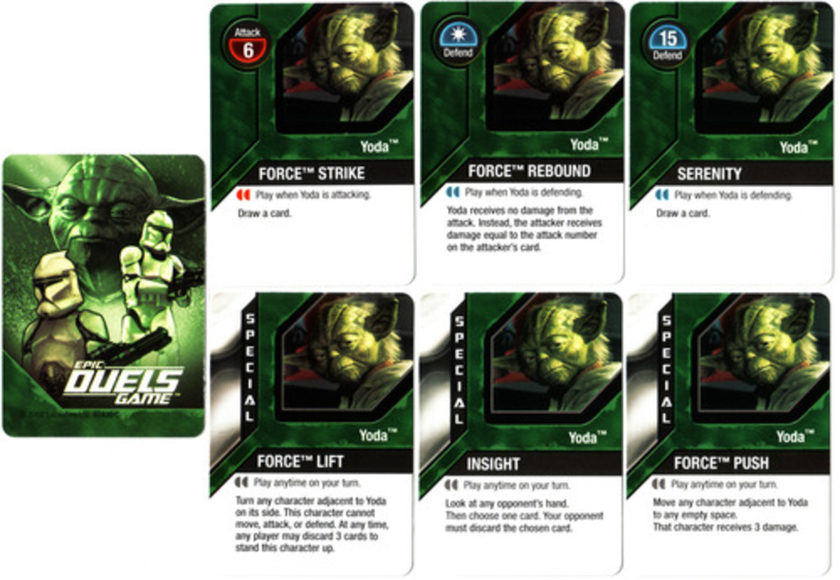 Yoda's Power Combat and Special cards