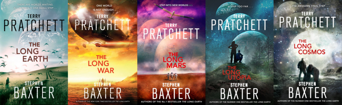 "The Long Earth is the first in a series of five books called the ""Long Earth Series"""